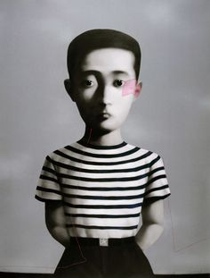 Zhang Xiaogang (Chinese: 1958) - Big Family Boy -  Lithograph - 138x104cm - 2006