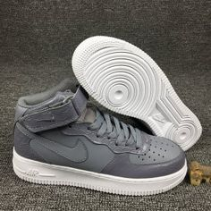 c80004cac1a8 Mens Sneakers Nike Air Force 1 Mid 07 Lv8 Cool Grey White 804609 004 Air  Force
