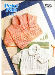 b6ff92ad6ffcb New Listing Started 550 Peter Pan Knitting Pattern Baby Jackets 16-18
