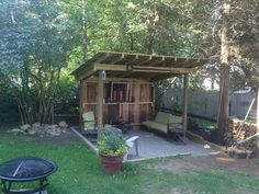 33 best Ideas for backyard bbq shed projects Shed Design Plans, Shed Plans, Outdoor Sheds, Outdoor Rooms, Outdoor Living, Bbq Shed, Garden Shed Interiors, Rustic Shed, Western Saloon