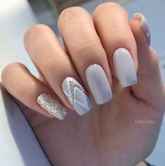 50 elegant nail art designs for women 2019 - page 20 of 50 - chic hostess -. - 50 elegant nail art designs for women 2019 – page 20 of 50 – chic hostess – - Nail Polish Designs, Acrylic Nail Designs, Nail Art Designs, Acrylic Nails, Bride Nails, Prom Nails, Cute Nails, Pretty Nails, Hair And Nails