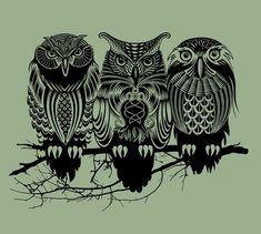 Owls of the Nile Art Print | Society6