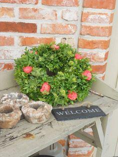 buxuskrans met roosjes