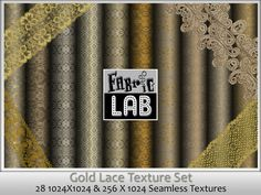 Gold Lace Texture Collection Artist Resources by www.fabriclab.org