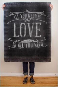 All you need is LOVE...is all you need.    [25 Love Posters to Print, Make + Send for Valentines]