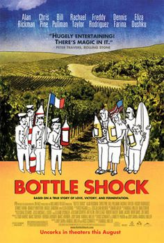 Bottle Shock.  Role:  Steven Spurrier.  2008.  The rise of California's wineries. Chris Pine as a '70s dude was great, too!  Interesting to watch the mindset about women vintners.