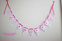 Oooh La La's High Chair Bunting- many colors available #birthday #children #kids #birthdayparty #banner #photo #photobanner #celebration #memories #months #ooohlala #happybirthday #polkadots #pink #chevron #newborn #firstyear #highchair #firstbirthday #ooohlalapaperie #ooohlalapaperieandboutique