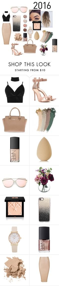 """""""love me harder"""" by rileeyyy on Polyvore featuring Boohoo, Gianvito Rossi, Michael Kors, Gucci, NARS Cosmetics, Terre Mère, beautyblender, Givenchy, Casetify and Bobbi Brown Cosmetics"""