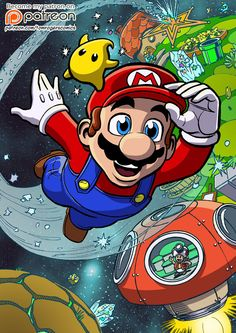 Super Mario Galaxy by mistermuck.deviantart.com on @DeviantArt