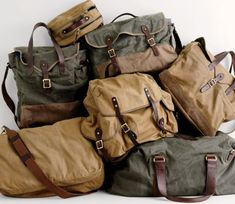 heritage, utility  J.Crew Spring/Summer 2012  khaki canvas bag