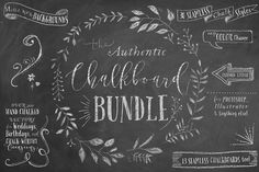 The Authentic Chalkboard Bundle by Alaina Jensen on @creativemarket