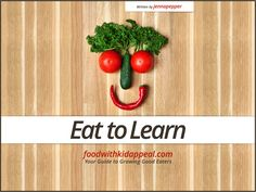 Free Eat to Learn Cookbook Sample page, broccoli.  Connect real food to learning, playing and living. Kids will become food literate.