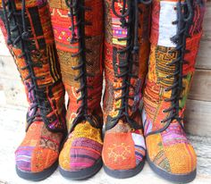 Womens+Boho+Boots+In+Colorful+Vintage+Ethnic+by+SiameseDreamDesign,+$74.00