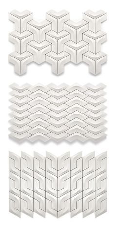 Arc tiles from the Versatile collection by Kutahya Seramík