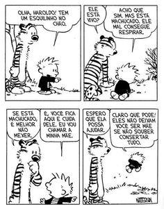 Calvin & Haroldo. Verdade sobre as mães.