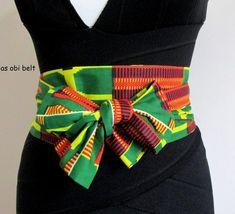 Items similar to Nubian bow Traditional Africa Asoebi kente PRINT fabric Obi belt, sash, scarf, bow belt. fit UK size 12 on Etsy - Africa African Print Fashion, African Fashion Dresses, Fashion Prints, Fashion Outfits, Womens Fashion, Fashion Design, Fashion Ideas, African Attire, African Wear