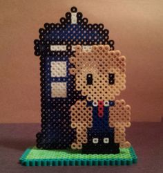 3D Dr Who perler beads by Joanne Schiavoni