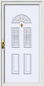 Vstupní dveře plastové, hliníkové s TEHNI PVC+ABS
