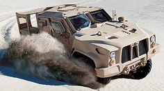 Oshkosh L-ATV The entry from Oshkosh is a version of the Light Combat Tactical Vehicle concept that competed in the 2010 Baja 1000 off-road race. The company says it offers MRAP levels of protection against explosive devices and can be available in a diesel-electric hybrid version.