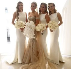 #long bridesmaid dress #white bridesmaid dress http://www.storenvy.com/products/14379939-long-bridesmaid-dress-white-bridesmaid-dress-mermaid-bridesmaid-dress-che