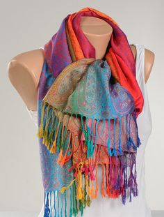 Colorful VALENTINE Pashmina Scarf or Shawl or Neck Wrap. New Season Gift Scarf. by scarfstore2012 on Etsy https://www.etsy.com/listing/204203935/colorful-valentine-pashmina-scarf-or