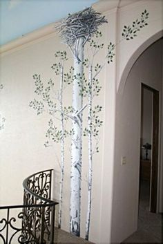 Danny Carter Raised Plaster Aspen Trees Small