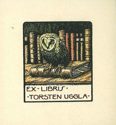 [Ex libris Torsten Uggla] by Stifts- och landsbiblioteket i Skara, via Flickr