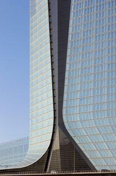 CMA CGM Headquarters - Marseille, France;  designed by Zaha Hadid Architects;  469 feet tall;  photo by Hufton + Crow