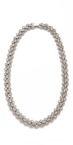 Belle Noel Vintage Glamour Necklace in Silver