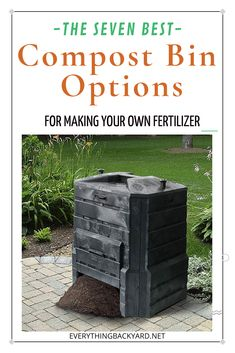 The 7 Best Compost Bin Options for Making Your Own Fertilizer Ponds Backyard, Backyard Landscaping, Backyard Ideas, Best Compost Bin, Tumbling Composter, Small Front Yards, Composting At Home, How To Make Compost, Yard Maintenance