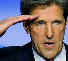 Offendatron Kerry saluting Obama