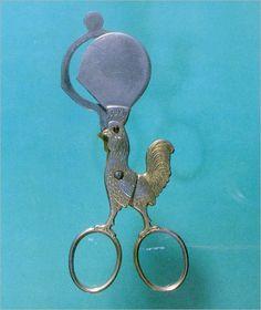 From the history of scissors, Egg Scissors. France, 1930.