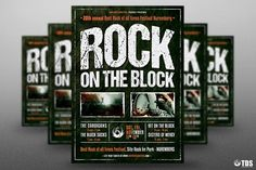 Rock Festival Flyer Template V1 by Thats Design Store on @creativemarket