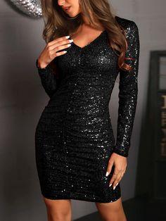 fa42d134e46 Ruched Design Sequin Dress. Chic Me. Shop Ruched Design Sequin Dress –  Discover sexy women fashion ...