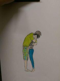 pencil color- love - couple
