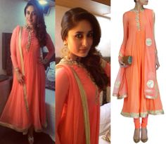 Peach color #ethnnic #indianwear #suit  design