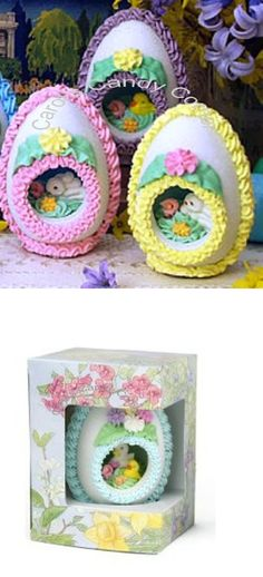 Easter Panoramic Sugar Egg Gift (4 Oz.), Easter Panoramic Sugar Eggs is an elegant old time classic that is hand crafted with a panoramic design inside the 4 ounce upright sugar egg. Each egg is hand decorated with an exquisite icing design ..., #Grocery, #Candy Gifts, $37.99