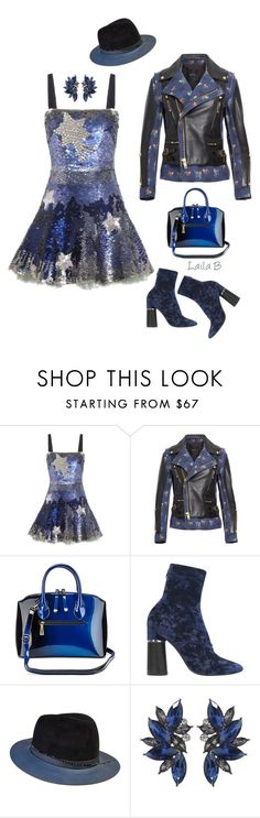 """""""Chic Mini Dress"""" by laila-bergan ❤ liked on Polyvore featuring Valentino, Undercover, 3.1 Phillip Lim, The Season Hats, contest and outfit"""