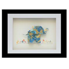 Happy elephant origami frame | hardtofind.