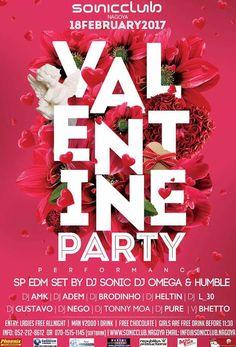 Valentine Party na Sonic Club da cidade de Nagoya (Aichi)