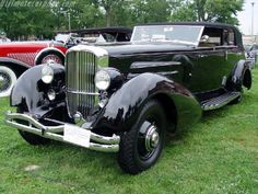 A late model J Convertible Sedan by Rollston. I think this looks quite European for some reason. It could easily be a Bentley from the front