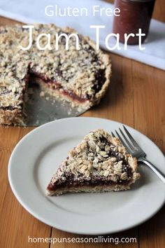 Make this gluten-free jam tart to feature homemade jams for a delightful and easy dessert perfect for everyday and fancier feasts and potlucks.