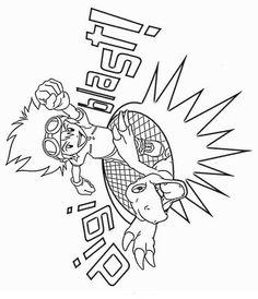 Digimon Tegninger til Farvelægning. Printbare Farvelægning for børn. Tegninger til udskriv og farve nº 12