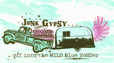 off into the wild blue yonder. . . junk gypsy co. #airstream #wildblueyonder