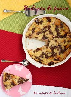 Bread pudding - un dulce care suprinde prin gustul fin si textura suculenta.