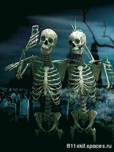 for fb posts: Skeleton Selfies animated gif halloween happy halloween halloween gifs halloween pics Premier Halloween, Halloween Gif, Holidays Halloween, Halloween Crafts, Halloween Decorations, Halloween Humor, Halloween Quotes, Happy Halloween Pictures, Halloween Images