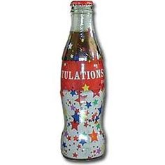 Congratulations Wrapped Coca-Cola Bottle (Stars)