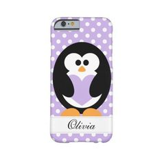Purple Penguin Love Barely There Iphone 6 Case ($42) ❤ liked on Polyvore featuring accessories and tech accessories