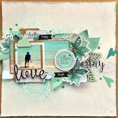 When you input scrapbooking in a search engine, there are literally thousands of search results that will pop up, primarily because authentic has became a Beach Scrapbook Layouts, Scrapbook Designs, Travel Scrapbook, Scrapbooking Layouts, Scrapbook Cards, Scrapbook Sketches, Wedding Scrapbook, Layout Inspiration, Art Plastique