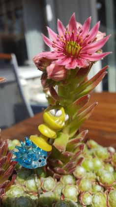Alien with the flowers again. And his friend the hedgehog